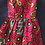 Thumbnail: Young girls Red and Gold kitenge Dress