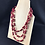 Thumbnail: Red and brown bead necklace