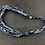 Thumbnail: Blue fabric pattern necklace