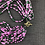 Thumbnail: Bottle green and pink bead necklace