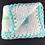 Thumbnail: Blue and white crocheted blanket