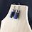 Thumbnail: Blue stripe fabric tube earrings