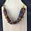 Thumbnail: Multicoloured fabric and paper bead necklace
