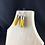 Thumbnail: Sunshine Yellow fabric tube earrings