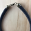 Thumbnail: Black fabric chunky tight necklace