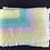 Thumbnail: Pastel rainbow crocheted blanket