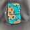Thumbnail: Kids Turquoise blue and tan swirl backpack
