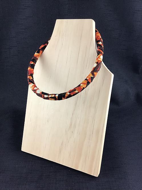 Orange Fabric pattern necklace