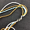 Thumbnail: Blue yellow and white bead necklace