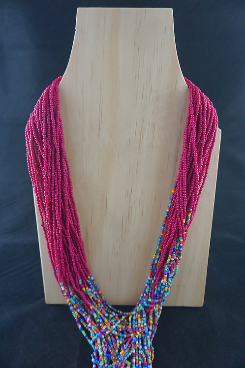Pink Multicoloured Necklace