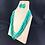 Thumbnail: Aqua bead necklace and earring jewellery set