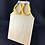 Thumbnail: Yellow fabric tube teardrop earrings