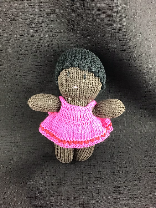 Little African girl in pink dress