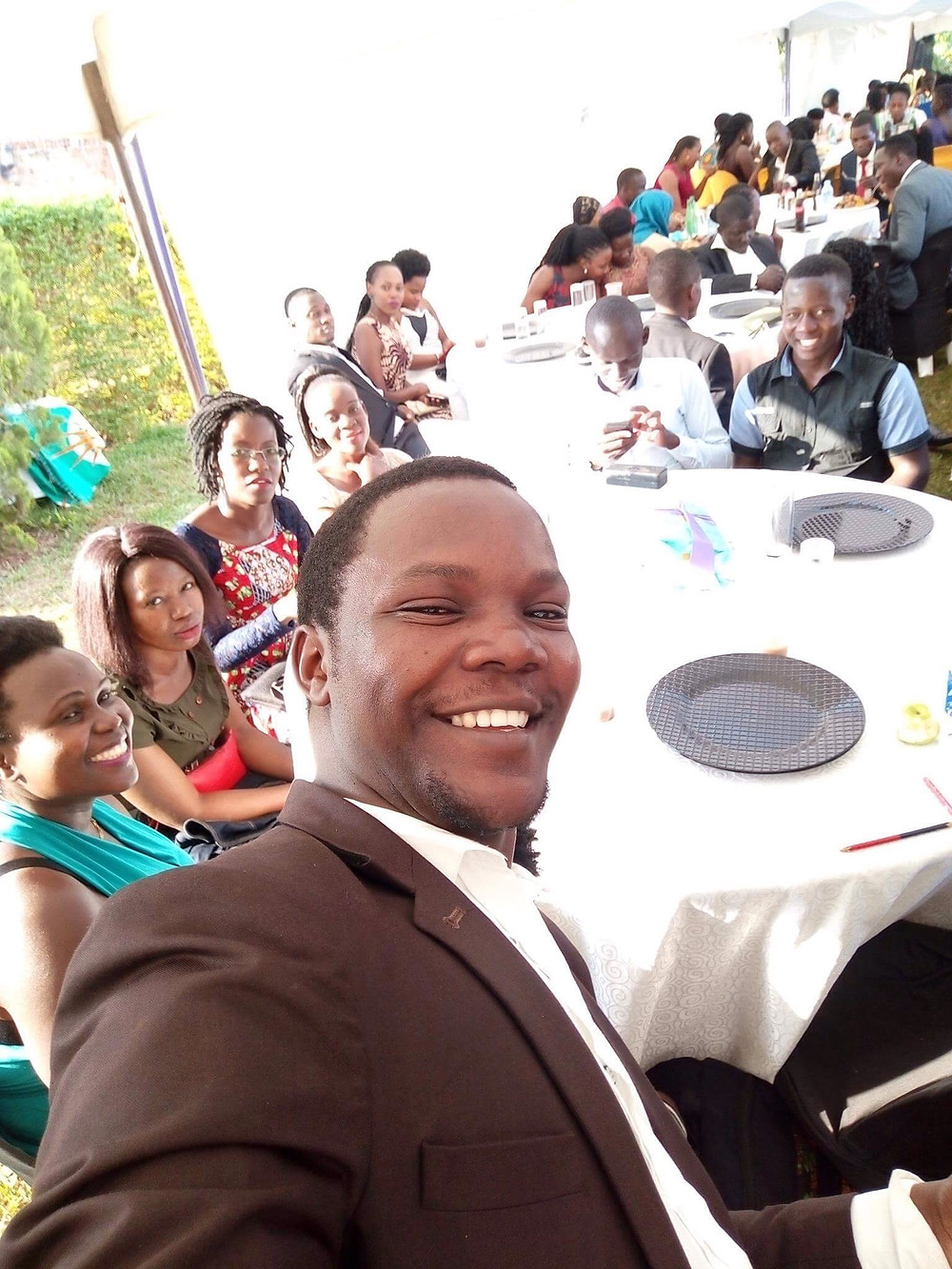 Me and some of the Mbuyu team at a friends wedding