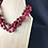 Thumbnail: Maroon and brown bead necklace