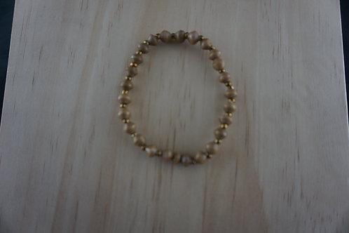 Caramel Bead Bracelet