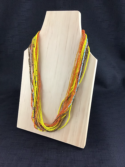 Rustic Sunset coloured bead necklace
