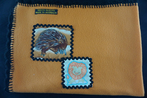 Echidna and Lion Blanket