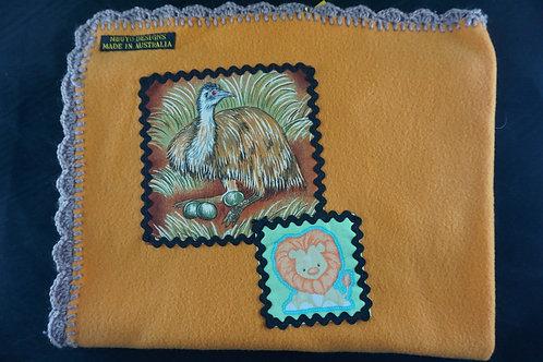 Emu and Lion Blanket