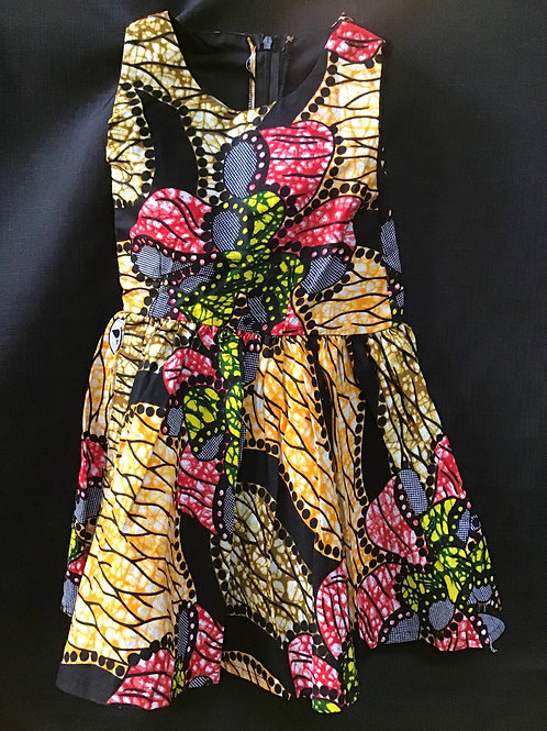 Young Girls Multicoloured kitenge Dress