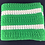 Thumbnail: Green and white crocheted blanket