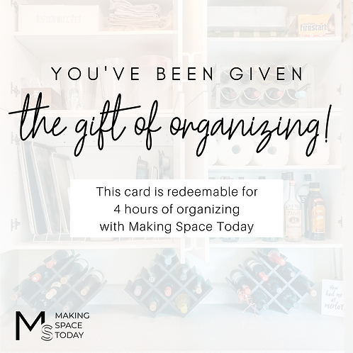 Organizing Session Gift Card