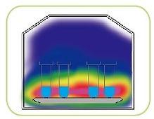 Распределение СВЧ вмикроволновой системе пробоподготовки ТОРЕХ +