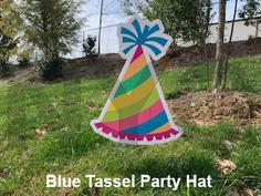 Blue Tassel Party Hat.png