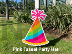 Pink Tassel Party Hat.png