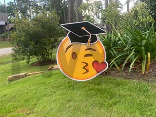 Graduation Kissy Emoji