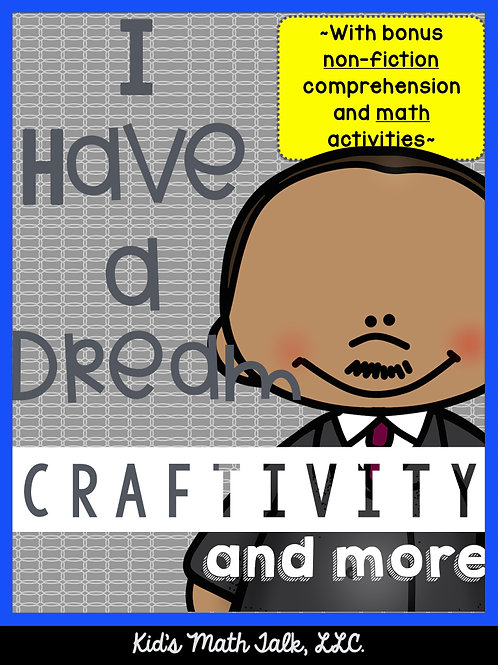 """I Have a Dream"" Craftivity and more!"