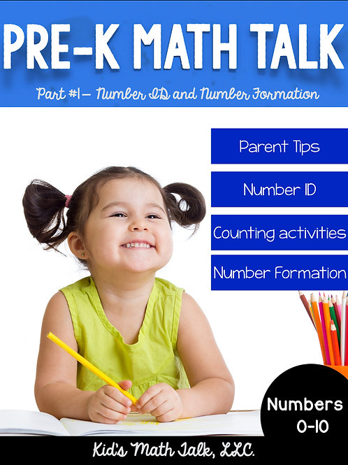 Pre-K Math Talk Part 1 -Number ID and Formation