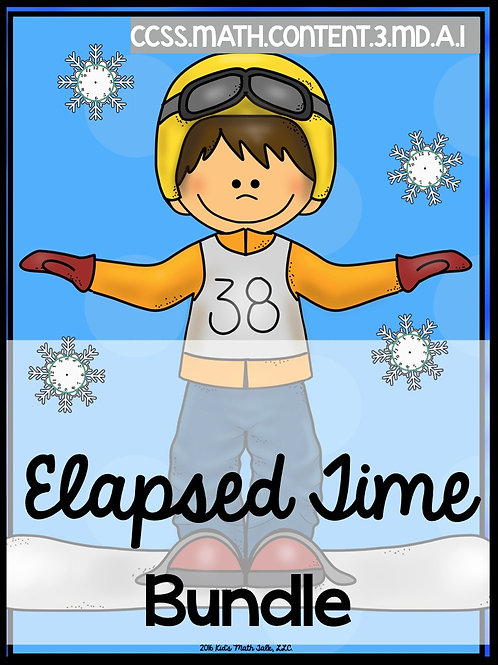 Winter Elapsed Time Word Problems