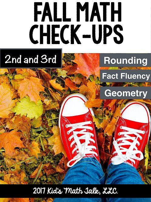 Fall Math Check-Ups