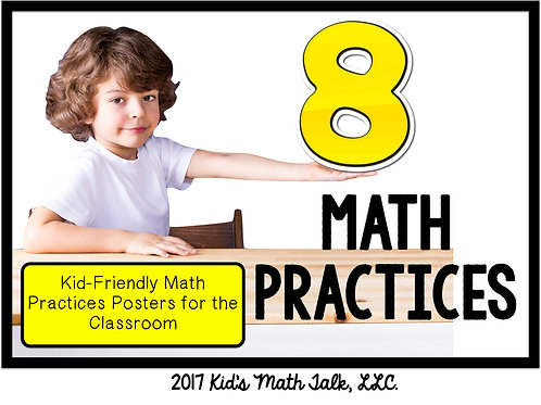 8 MATH PRACTICES POSTERS