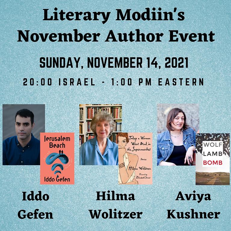 Literary Modiin - November 2021 Author Event