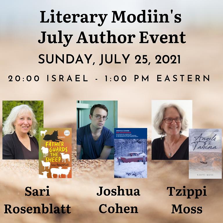 Literary Modiin - July 2021 Author Event