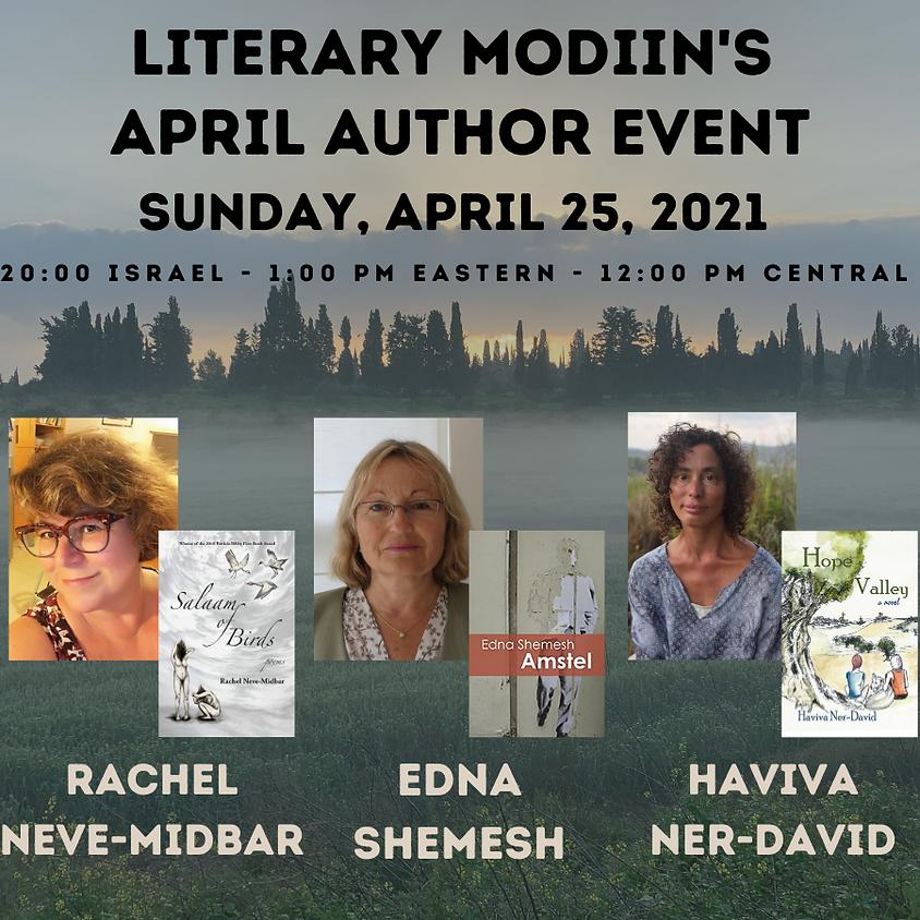 Literary Modiin - April 2021 Author Event
