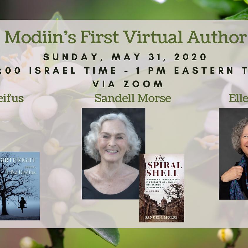 Literary Modiin Virtual Author Evening