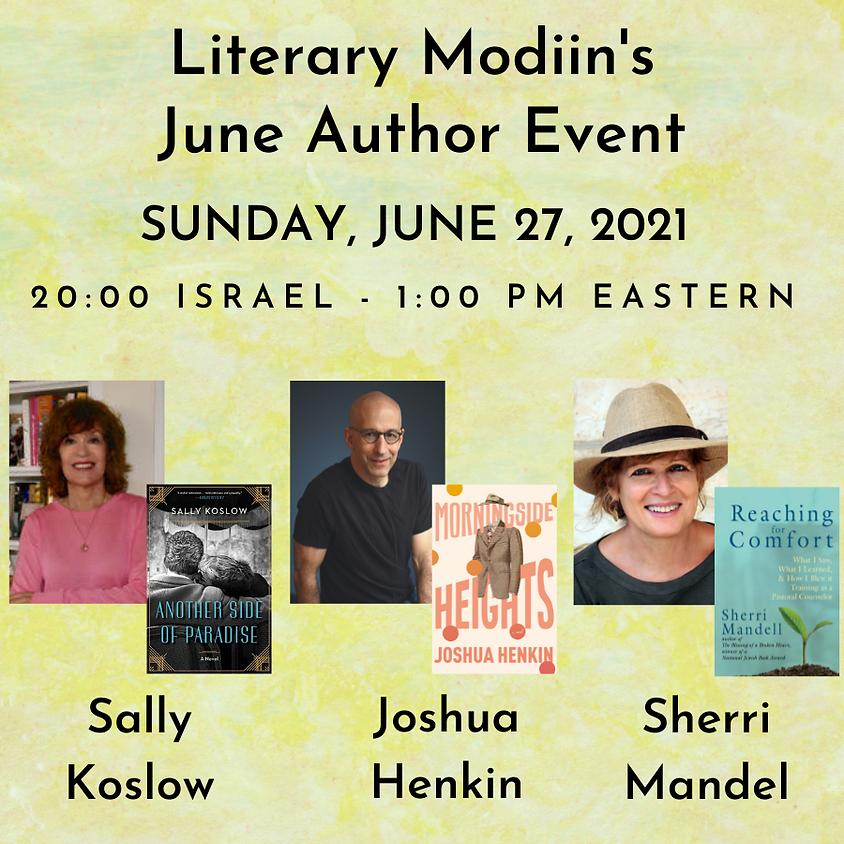 Literary Modiin - June 2021 Author Event