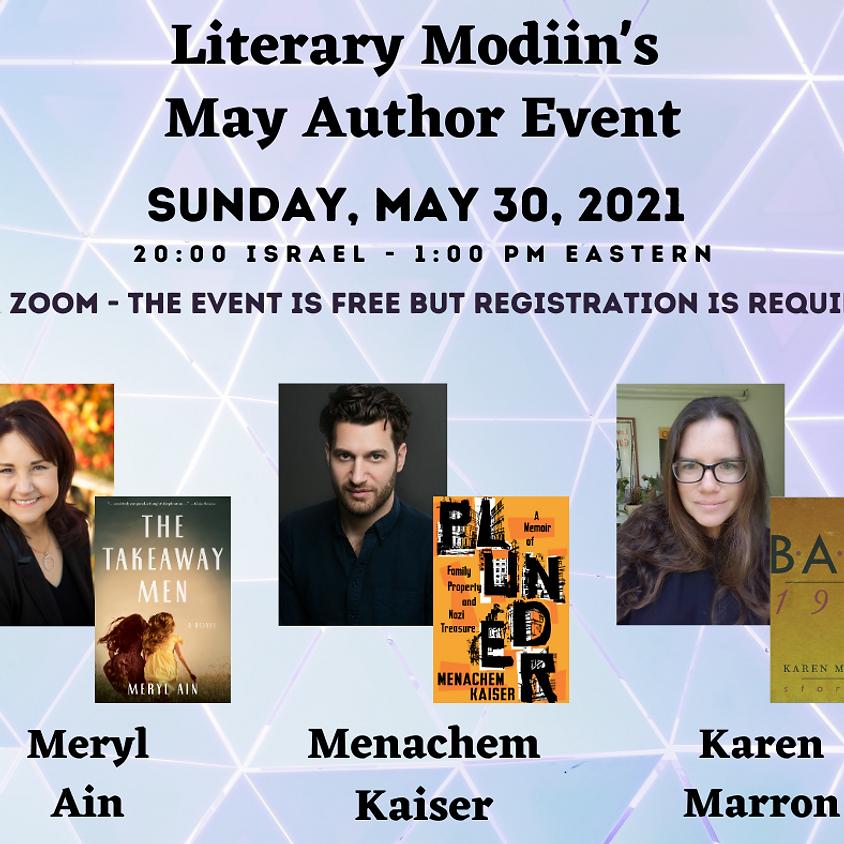 Literary Modiin's May Author Event