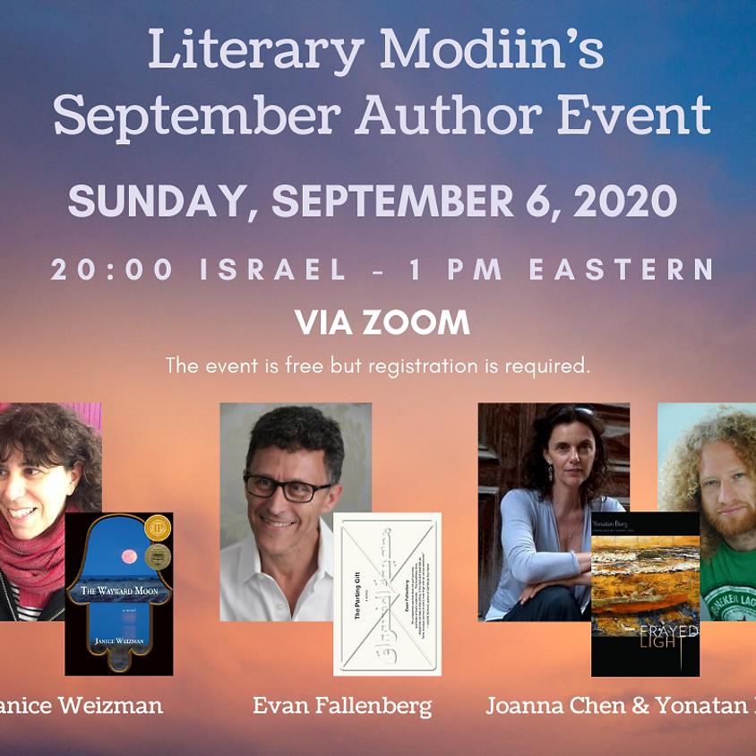 Literary Modiin September Author Event