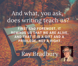 And what, you ask, does writing teach us