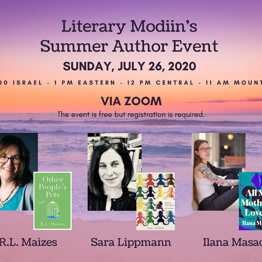 Literary Modiin Summer Author Event
