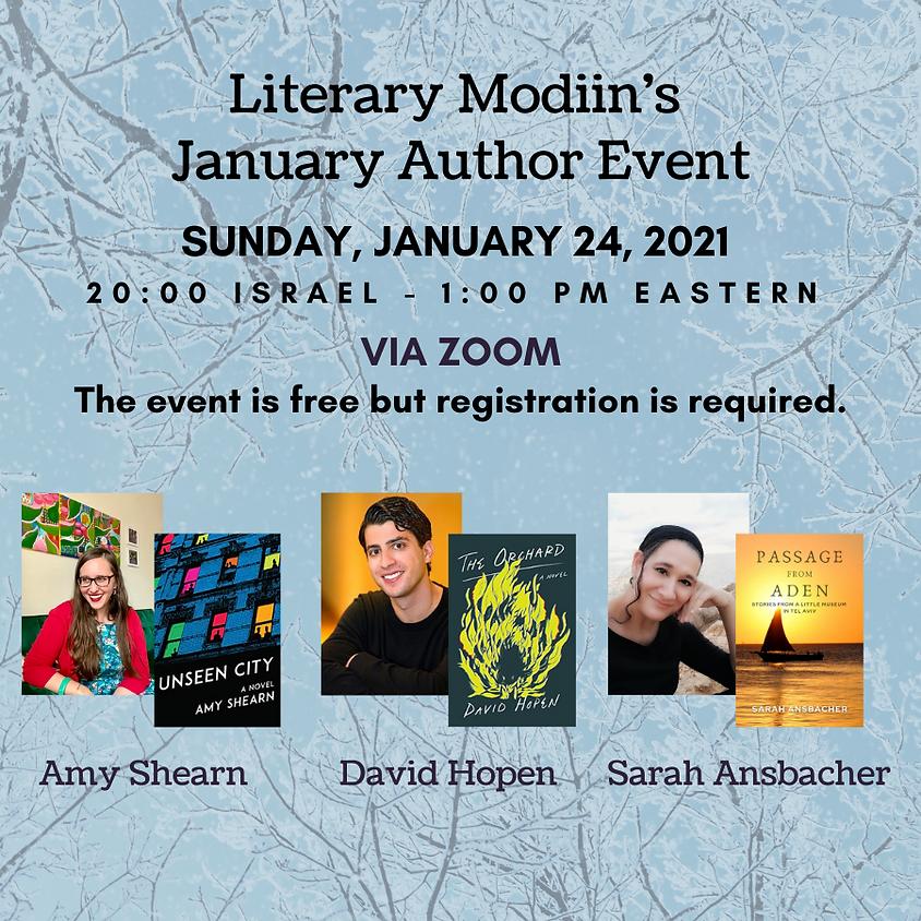 Literary Modiin - January 2021 Author Event