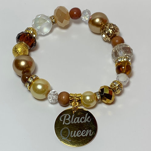 """Black Queen"" Charm Bracelet"