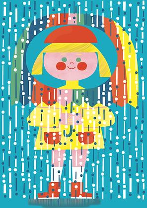 Emily + The Rain Greetings Card