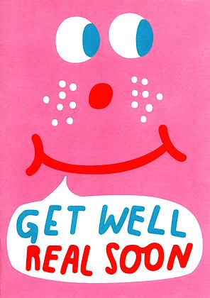 Get Well Real Soon Greetings Card