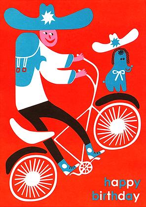 Bicycle Boy Greetings Card