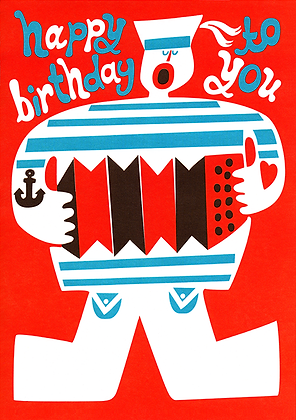 Sea Shanty Greetings Card